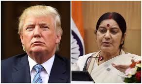 Swaraj v/s Trump