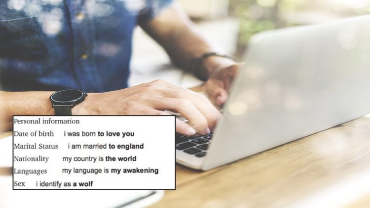 THIS GUY MAKES HIS CV ENTIRELY WITH GOOGLE AUTO-COMPLETE AND THE RESULTS WERE HILAROUS!