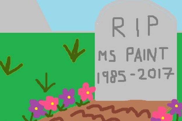 Lots of Memories with MS Paint – We will miss you!!