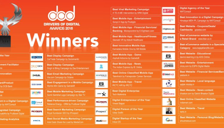 Inkspell acknowledges the Digital frontrunners in India through Drivers of Digital Awards