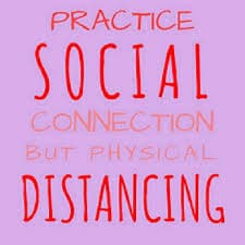 Social distancing or physical distancing